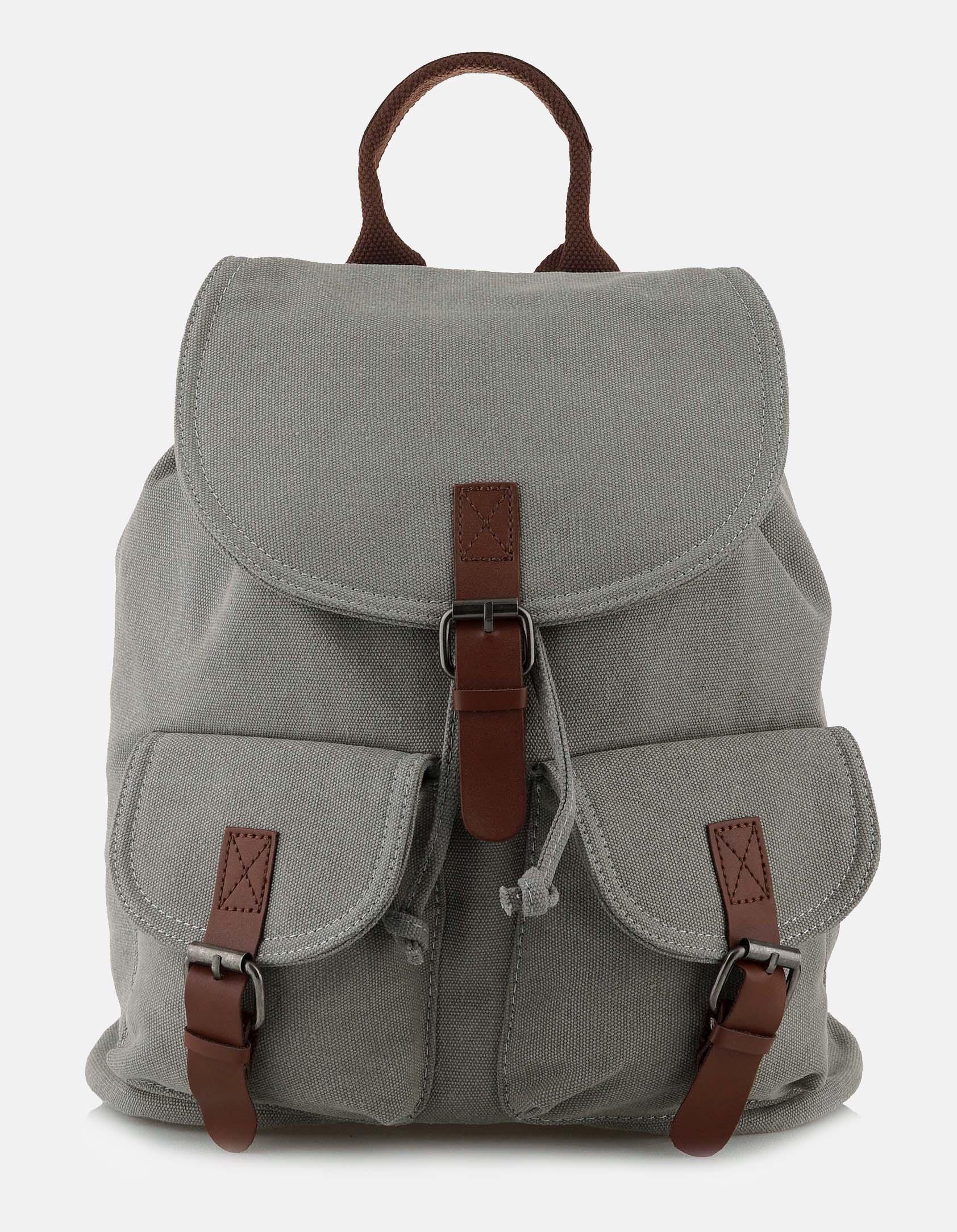 Backpack με δυο εξωτερικές θήκες - Γκρι