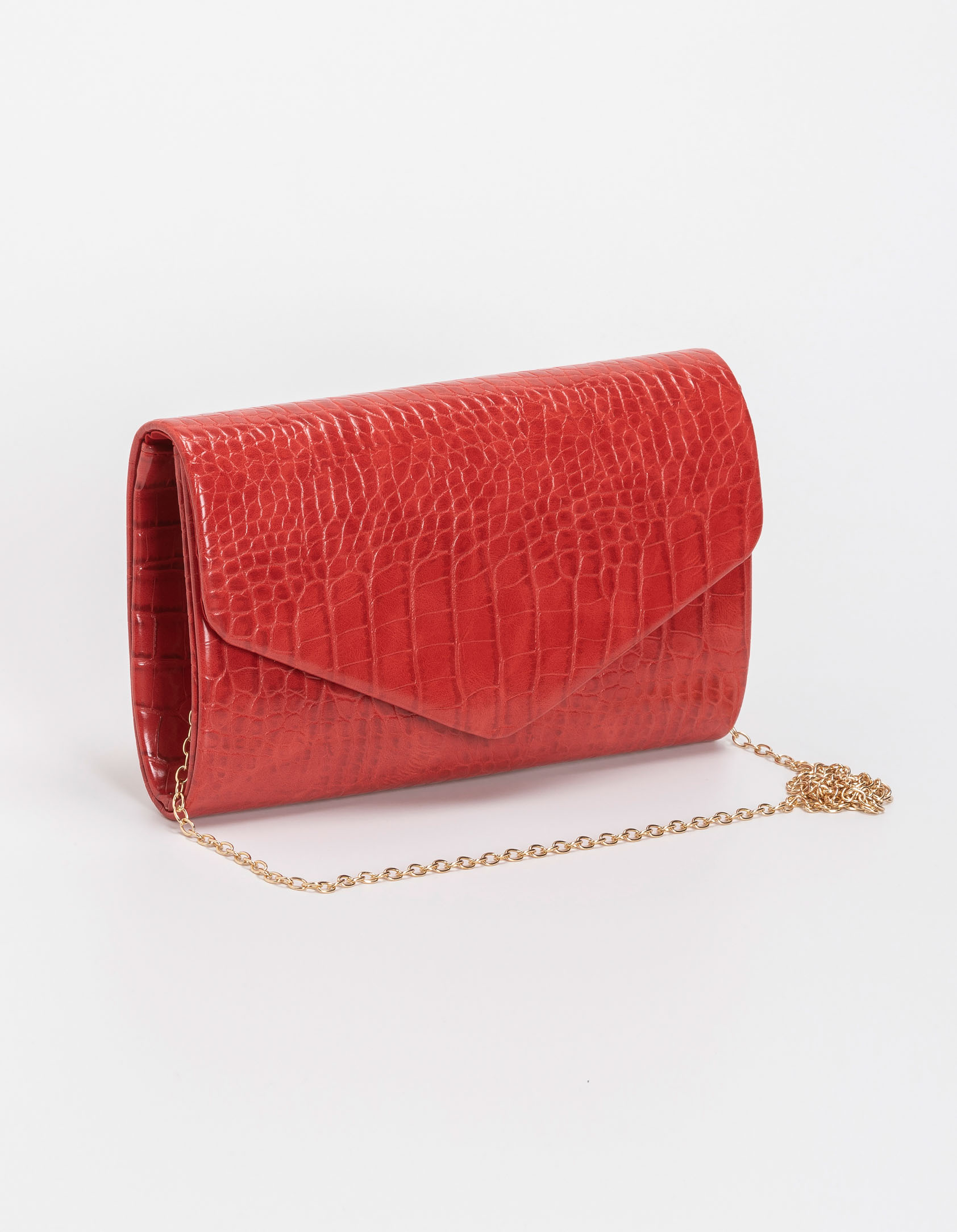 Croco τσάντα φάκελος - Κόκκινο