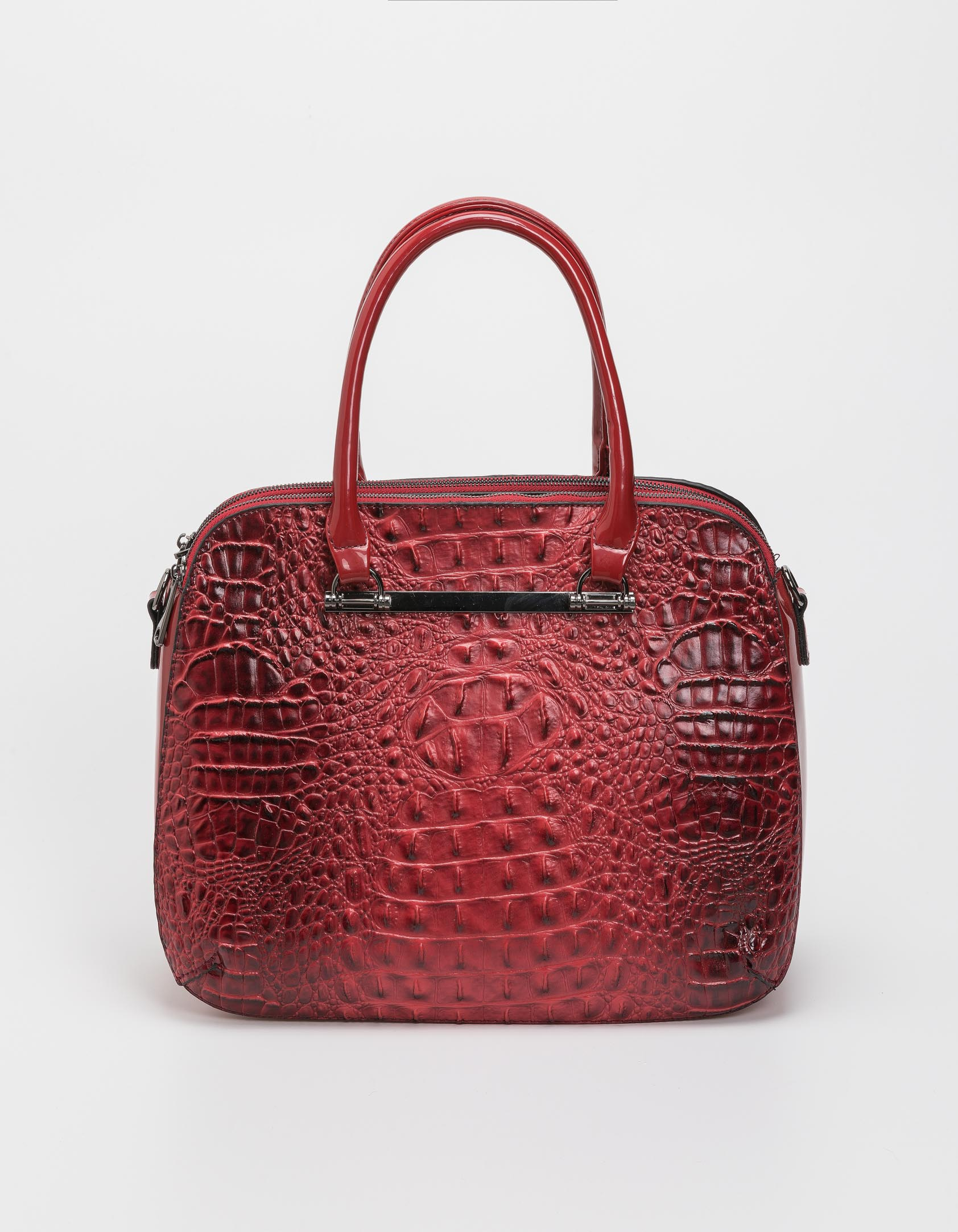 Croco τσάντα χειρός - Κόκκινο