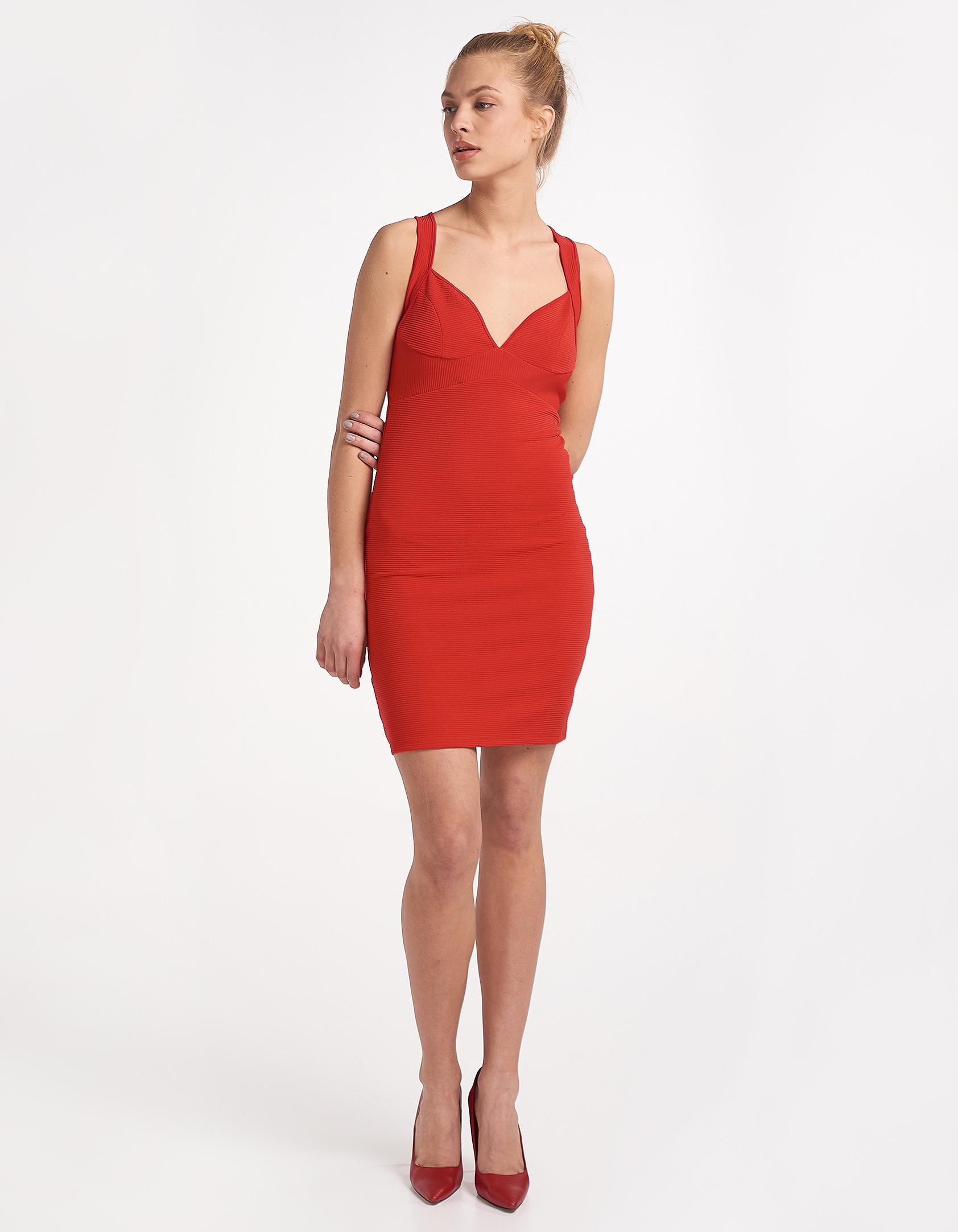 555a833561f Φόρεμα με χιαστί τιράντες στην πλάτη - Issue