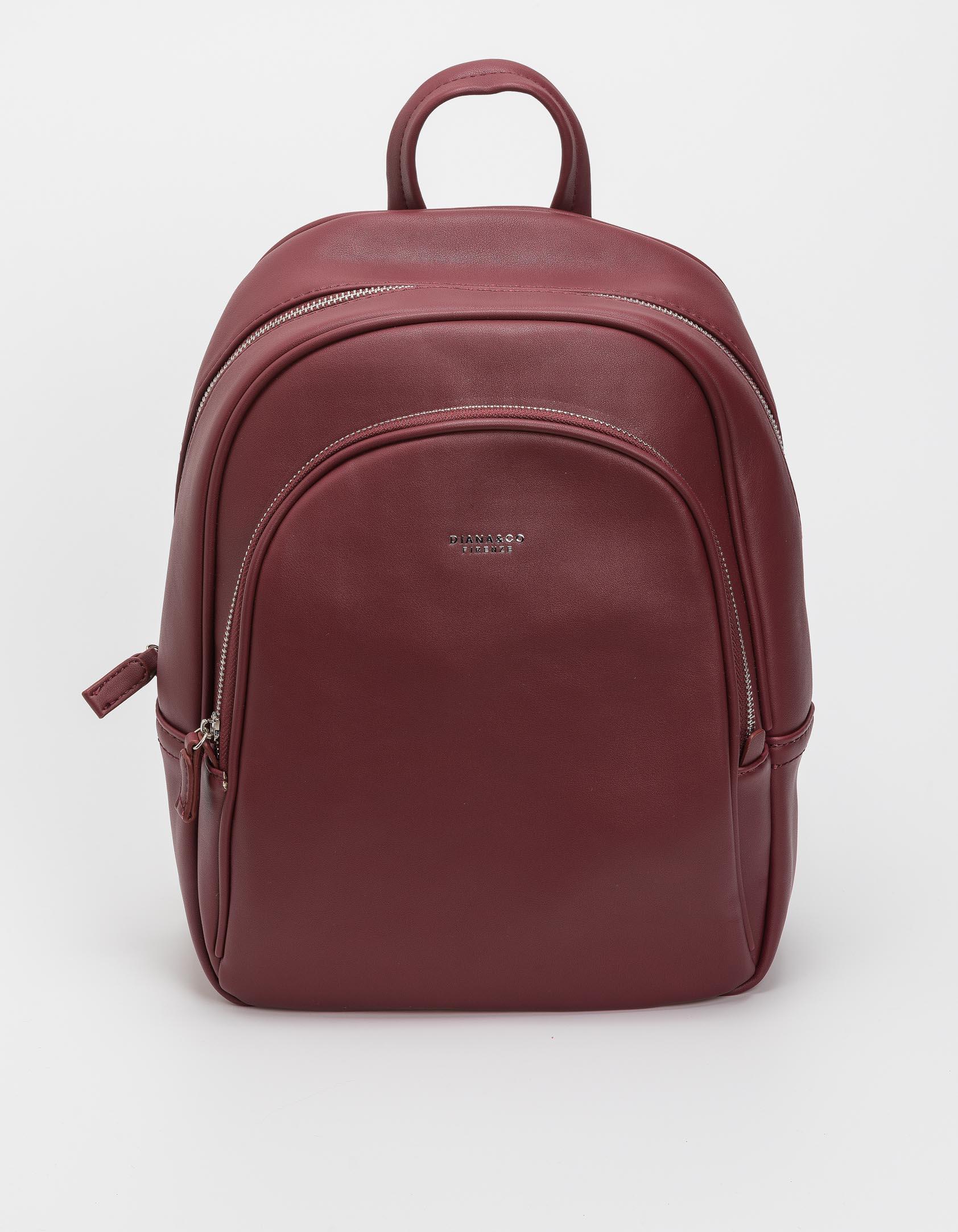 Μεγάλο backpack δύο θέσεων - Μπορντώ