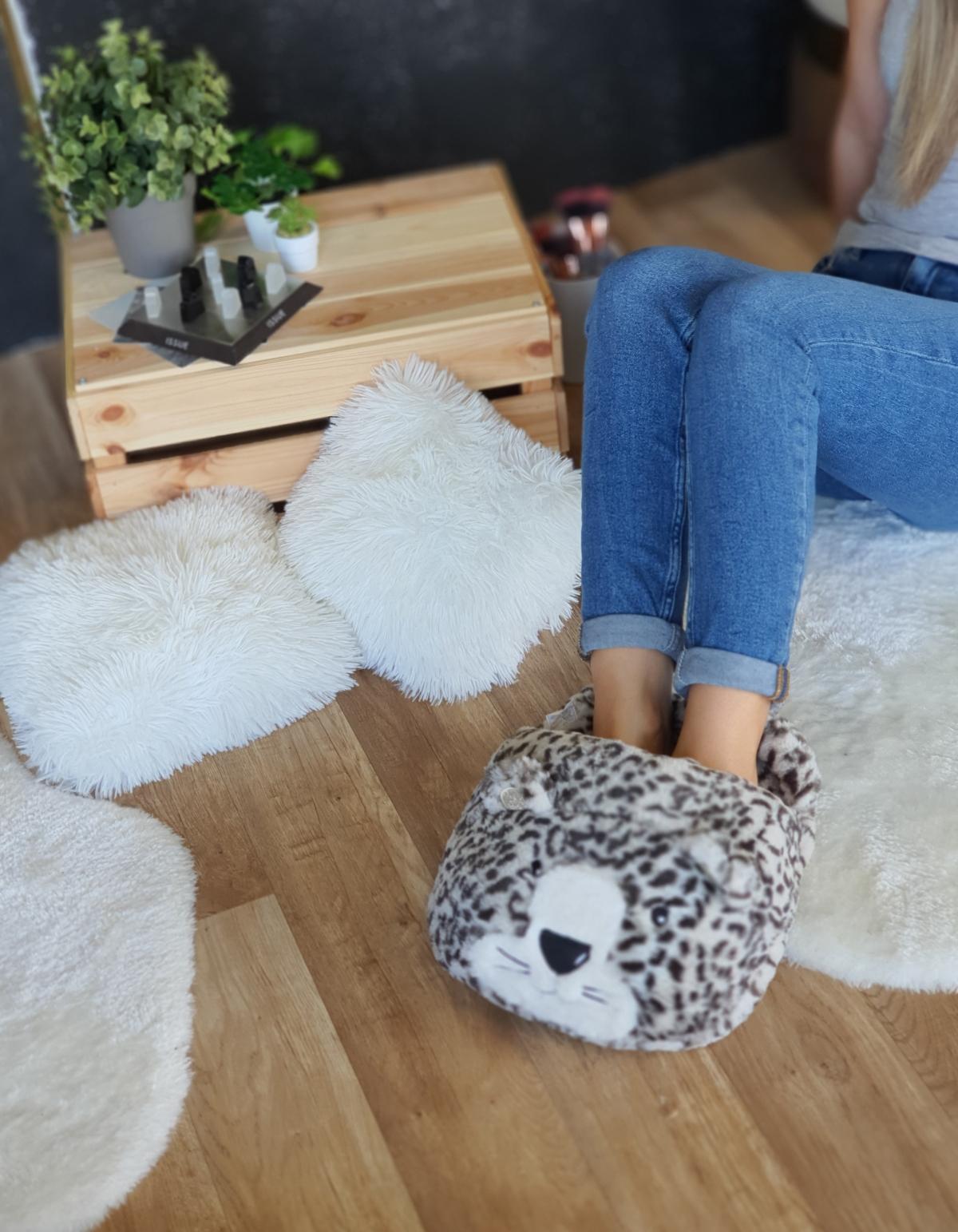 Oversized cozy παντόφλ τιγράκι - Λεοπάρ