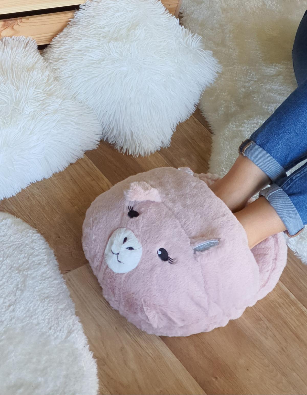 Oversized cozy παντόφλα γουρουνάκι - Ροζ