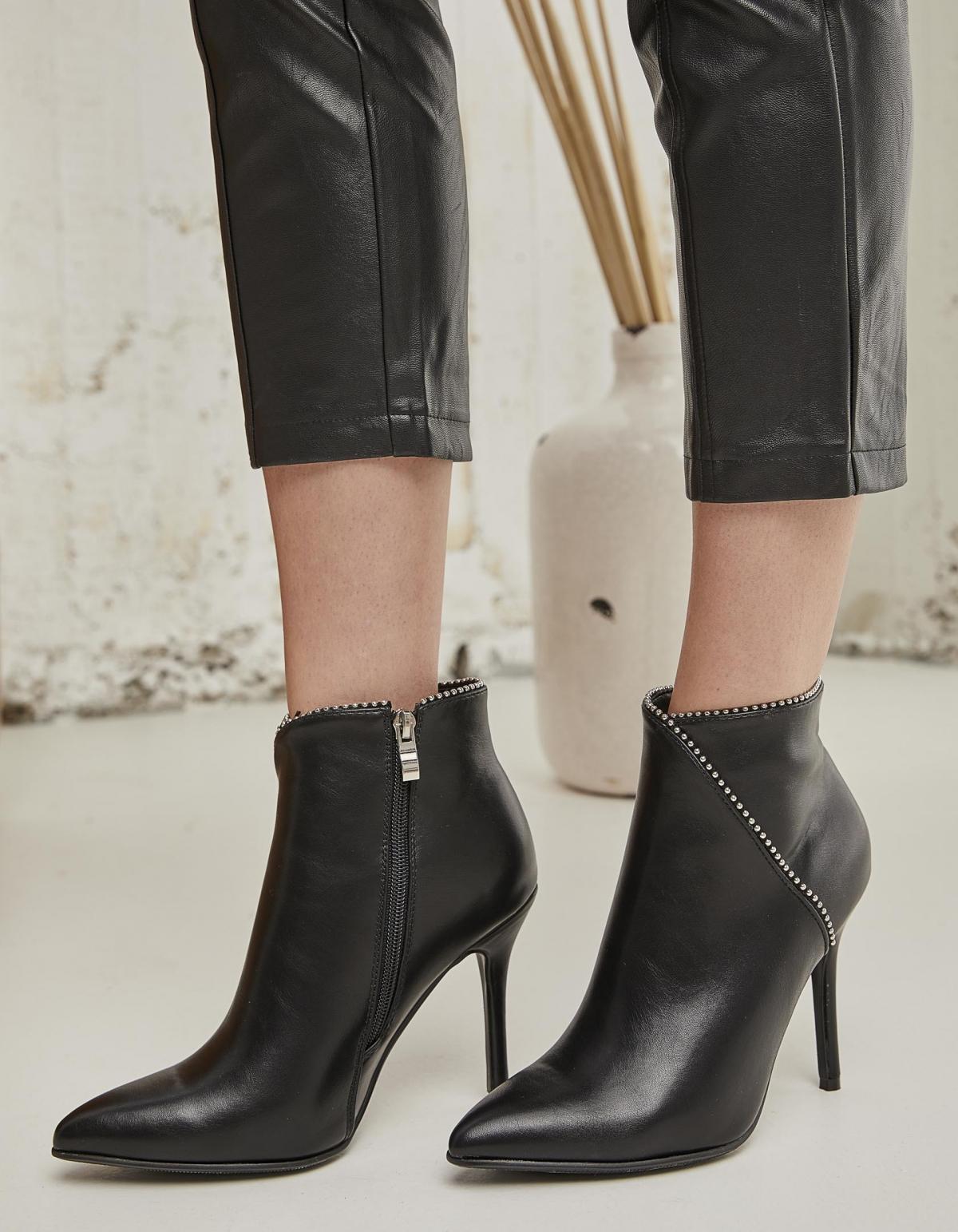 Stiletto ankle boots - Μαύρο