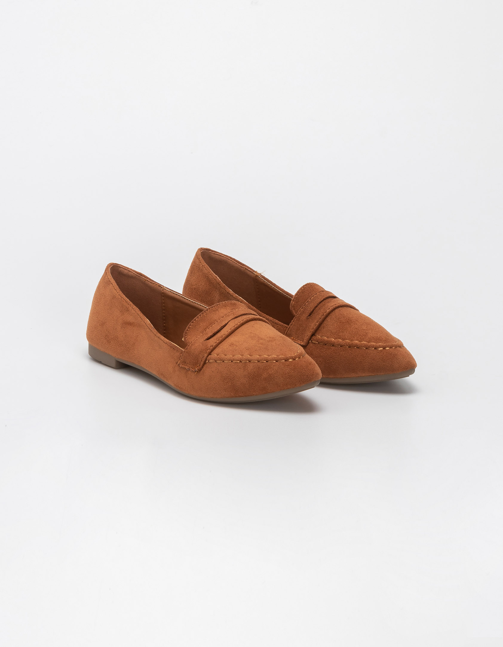 Suede loafers - Κάμελ