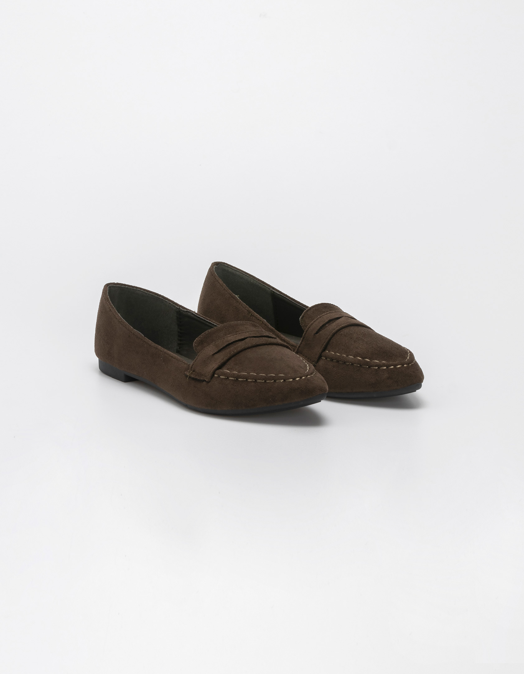 Suede loafers - Λαδί
