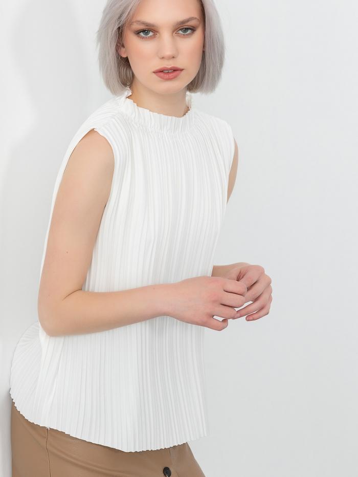 Αμάνικη πλισέ μπλούζα