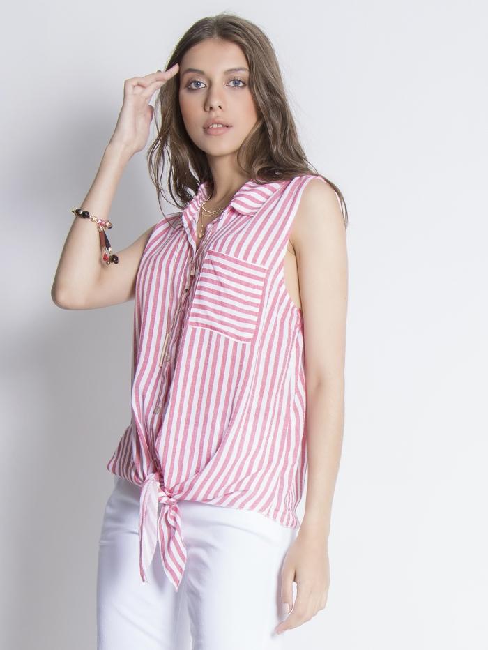 Αμάνικο ριγέ πουκάμισο