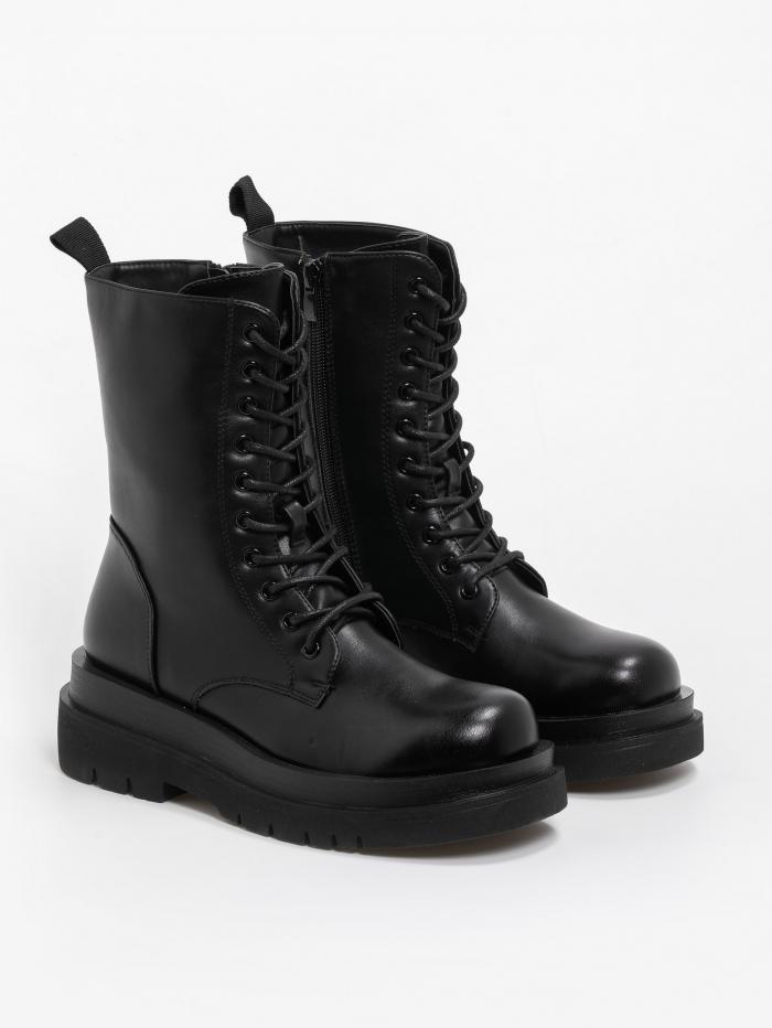 Combat boots  με διπλή σόλα