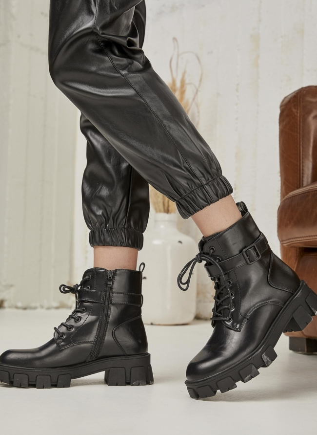 Ankle chunky combat boots