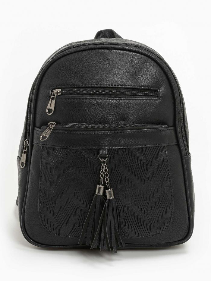 Backpack δερματίνη με καρδιές zip