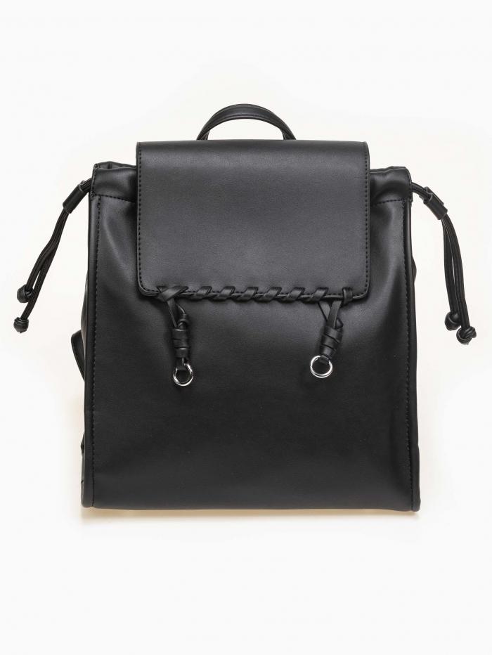 Backpack με διακοσμητική λεπτομέρεια στο καπάκι