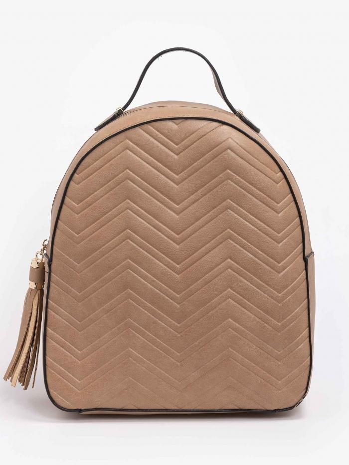 Backpack με καπιτονέ υφή