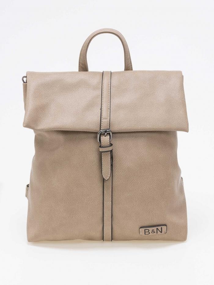 Backpack με σαγρέ σχέδιο δερματίνης