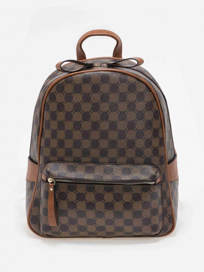 Backpack οβάλ με pattern