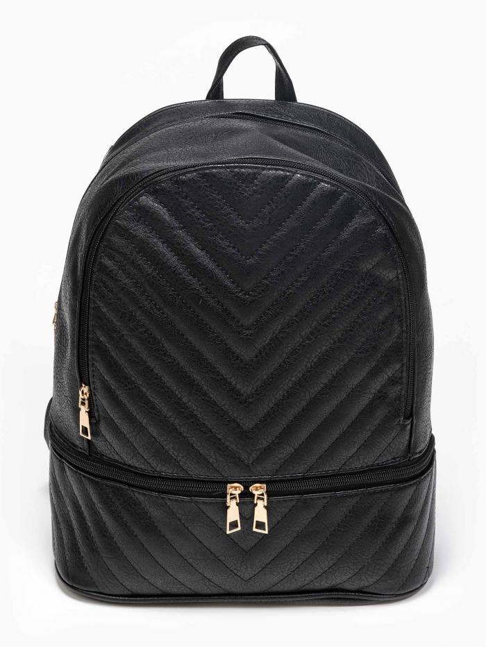 Τσάντα πλάτης με καπιτονέ σχέδιο
