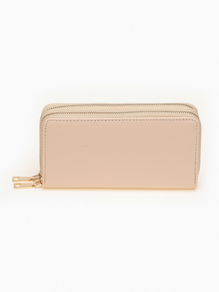 Basic πορτοφόλι με διπλό φερμουάρ