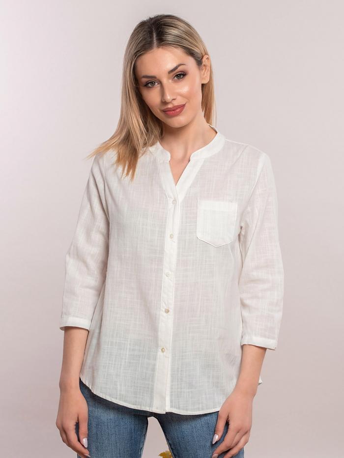 Basic πουκάμισο με γιακά μάο