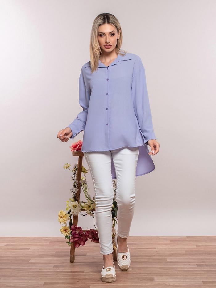 Basic πουκάμισο σε άνετη γραμμή