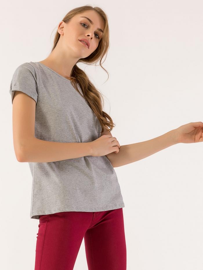 Basic t-shirt μονόχρωμο