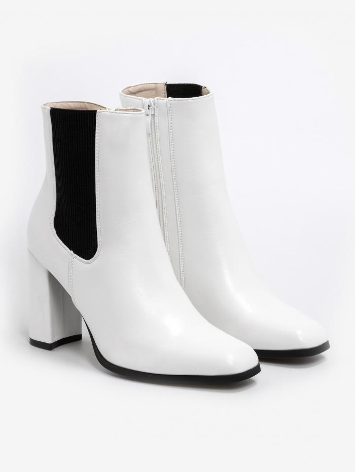 Chelsea boots με τακούνι & τετράγωνο τελείωμα