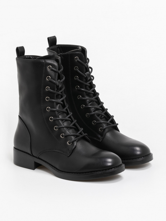 Comfort army ankle boots