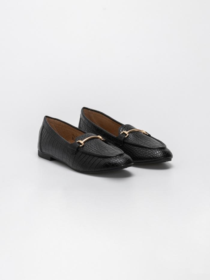 Croco loafers με αγκράφα