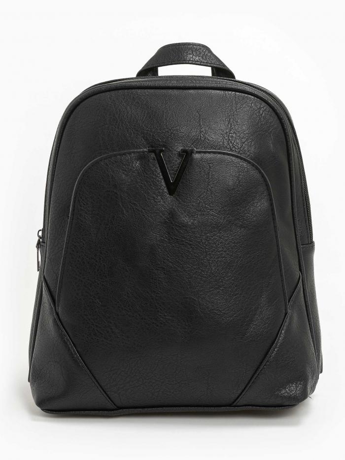 Δερματίνη backpack με μεταλλικό V