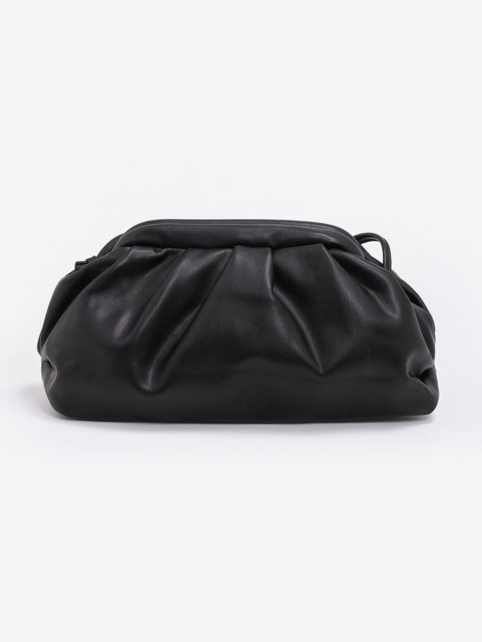 Δερματίνη τσάντα ώμου με clutch