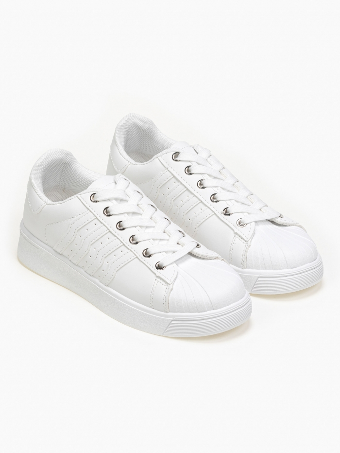 Sneakers με διχρωμία