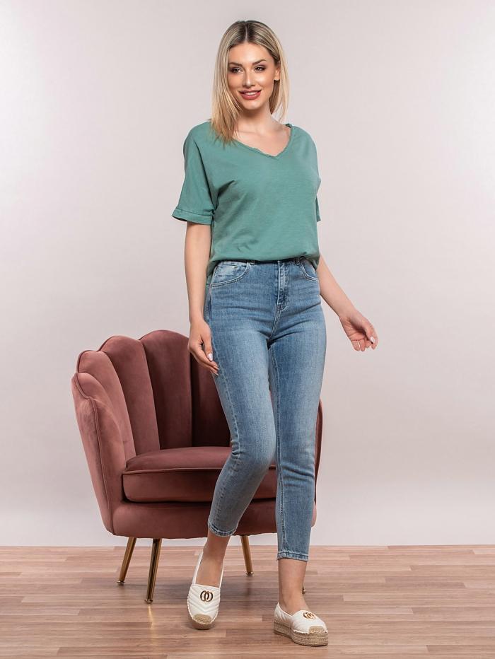 Ψηλόμεσο εφαρμοστό τζιν παντελόνι
