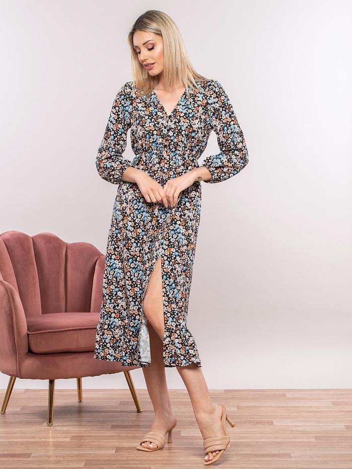 Midi φόρεμα με κουμπάκια
