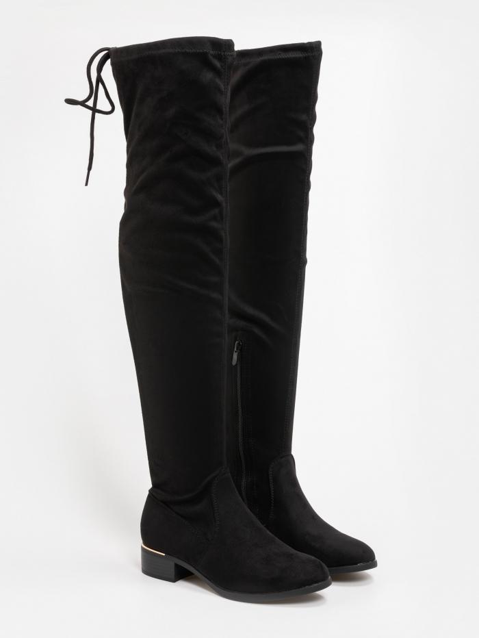 Φλάτ over the knee μπότες