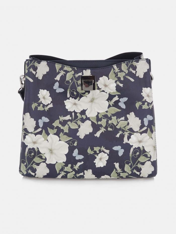 Φλοράλ τσάντα ώμου δύο θέσεων