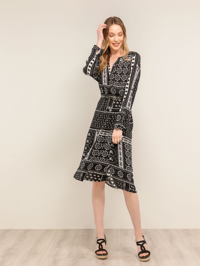 Φόρεμα ριχτό με μοτίβο