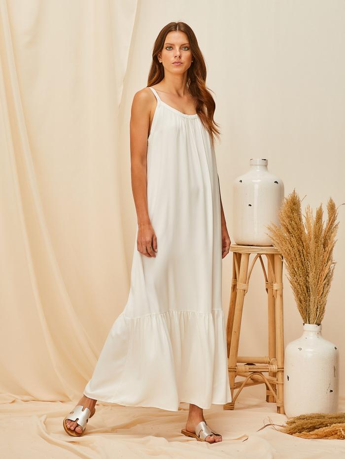 Φόρεμα ριχτό με τιράντες