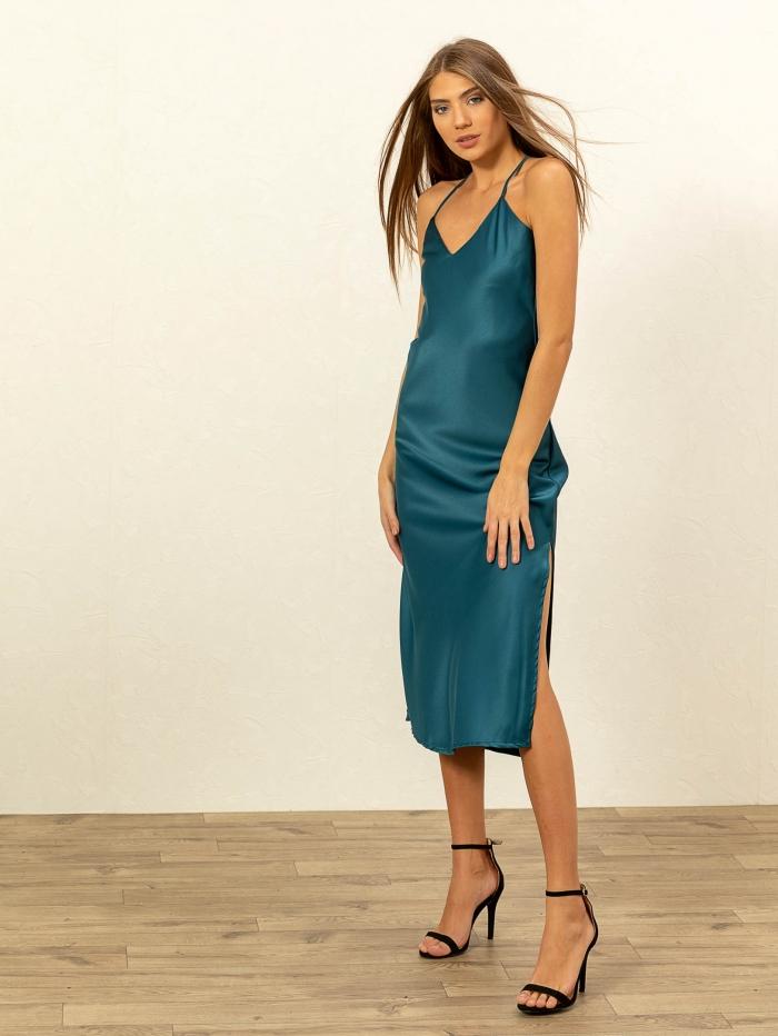 Φόρεμα τιραντάκι σε στυλ lingerie