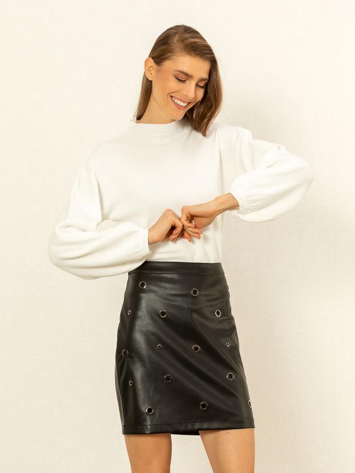 Φούστα mini με κρίκους