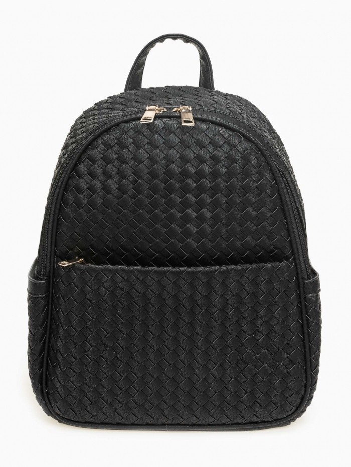 Τσάντα πλάτης με εφέ πλεκτού