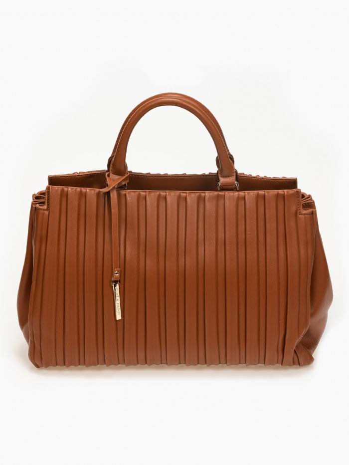 Τσάντα χειρός - ώμου με πτυχές