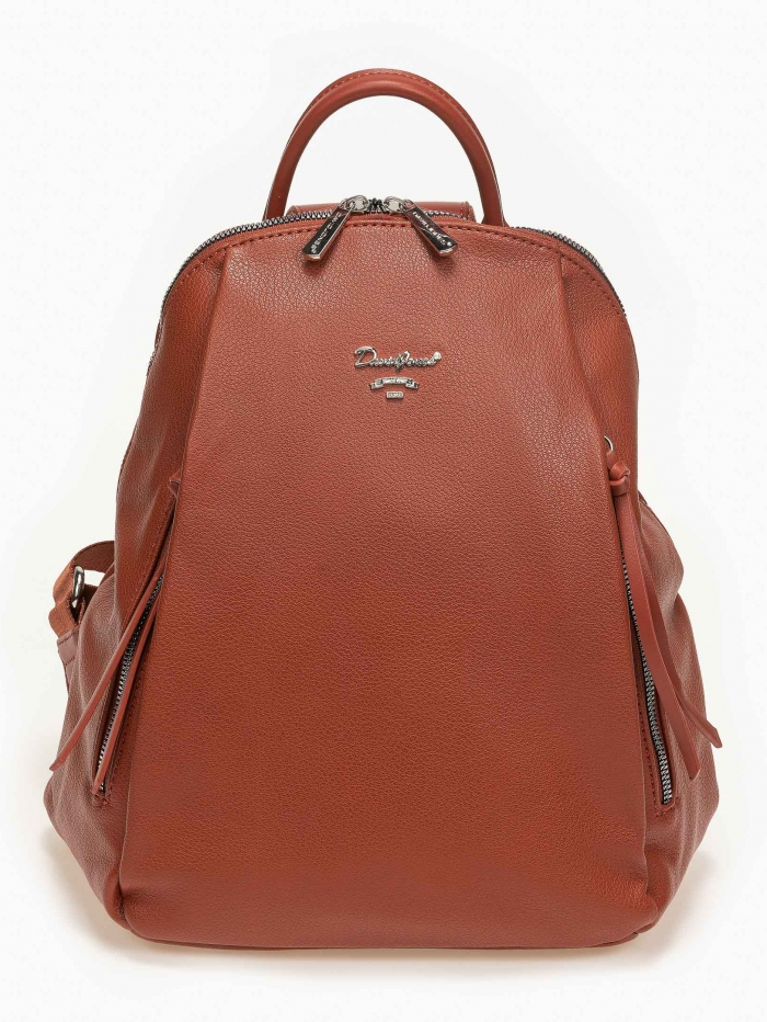 Backpack David Jones με φερμουάρ