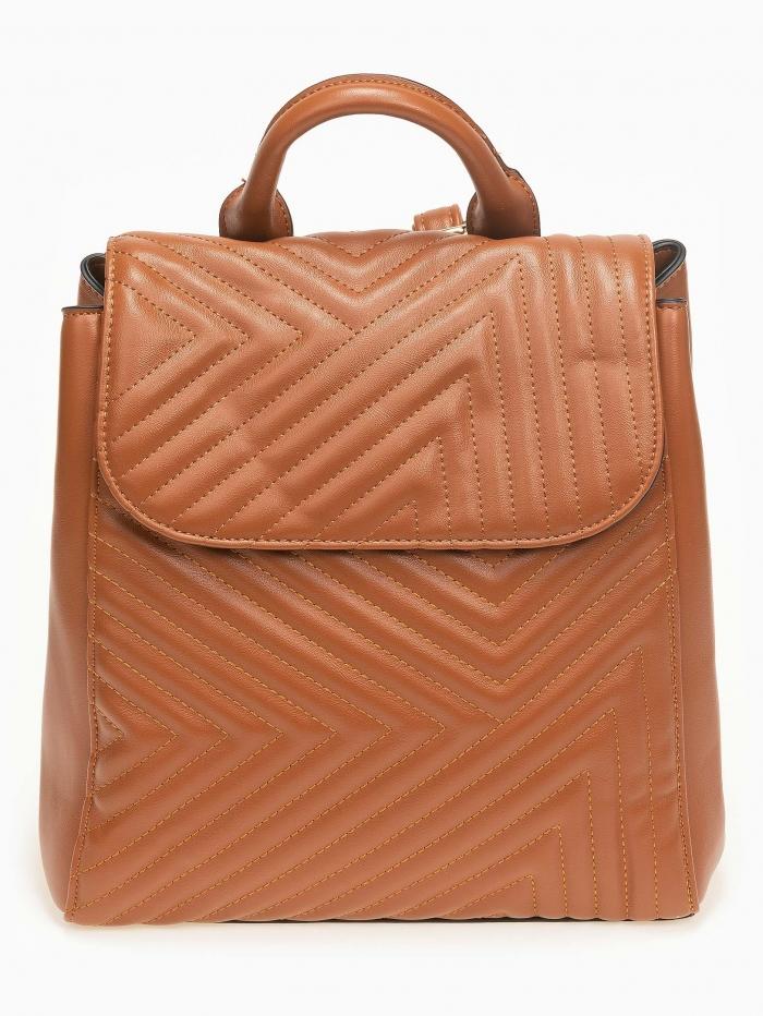 Backpack με καπιτονέ όψη