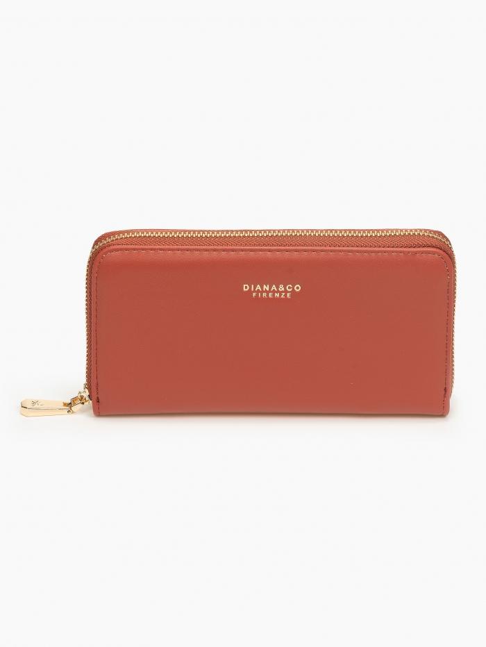 Γυναικείο πορτοφόλι slim με φερμουάρ