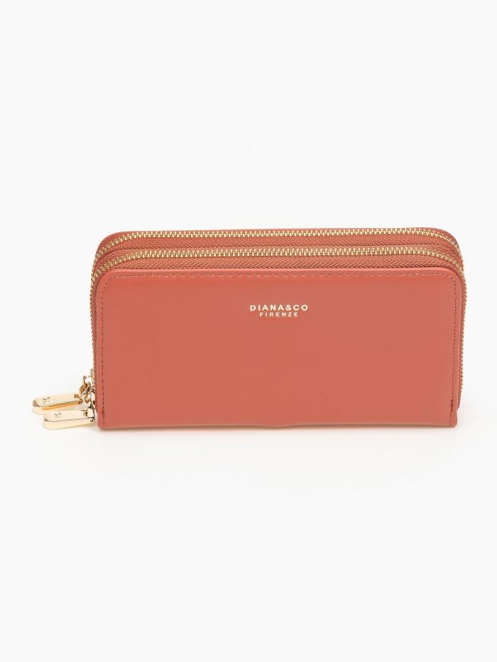 Γυναικείο πορτοφόλι δύο θέσεων με φερμουάρ