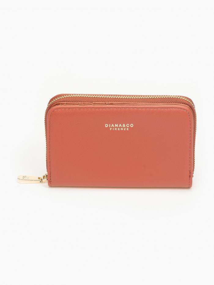 Γυναικείο πορτοφόλι με φερμουάρ και καπάκι
