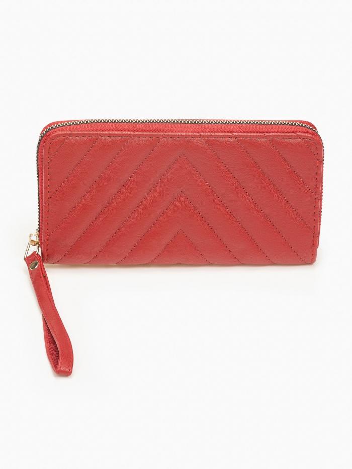 Γυναικείο πορτοφόλι με καπιτονέ όψη