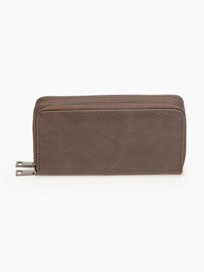 Γυναικείο snake skin πορτοφόλι με φερμουάρ