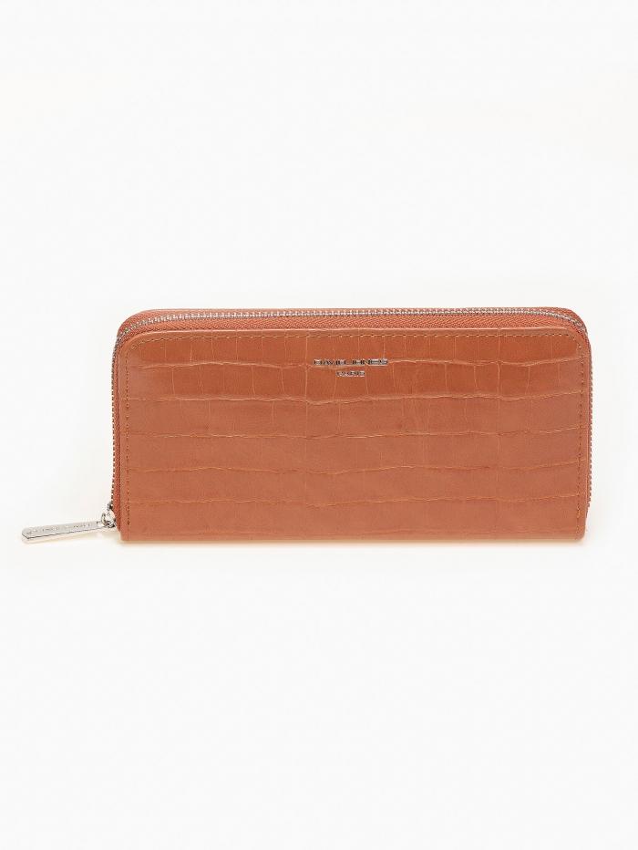 Κροκό ματ πορτοφόλι με φερμουάρ