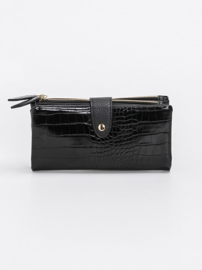 Κροκό πορτοφόλι με αποσπώμενη θήκη