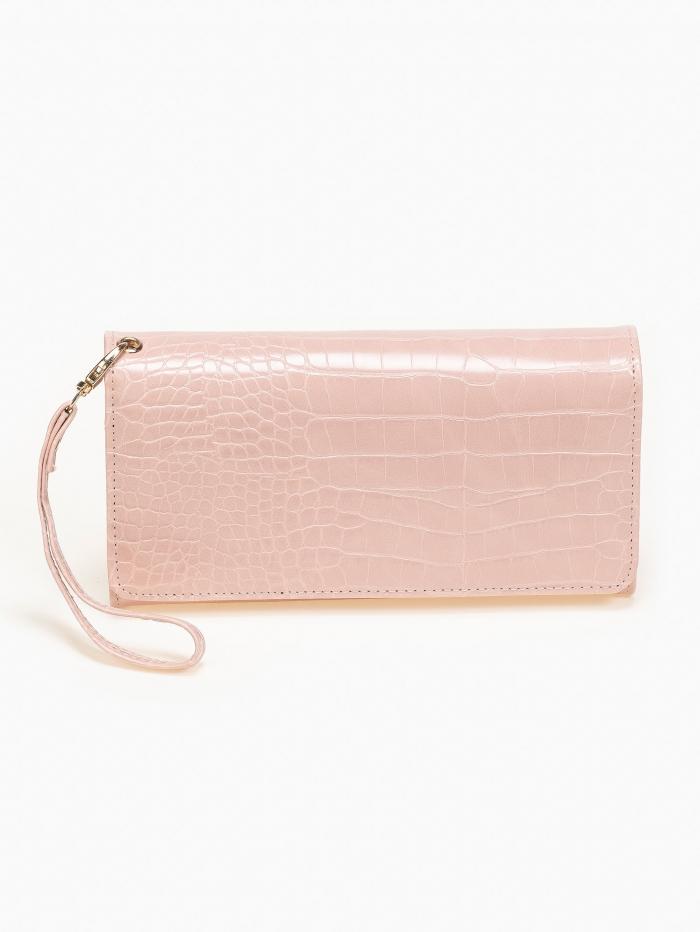 Κροκό πορτοφόλι με πολλαπλές θήκες